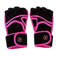 Perfk トレーニンググローブ 重量挙げ 手袋 4本指 アウトドア 薄手 滑り止めシリコーン 通気性 耐磨耗性 ウェイトリフティング ジム フィットネス 筋トレ スポーツ  全4サイズ3色 - ピンク, S