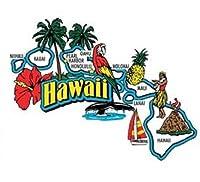 Hawaii Jumbo State Map Fridge Magnet by Saddle Mountain Souvenir