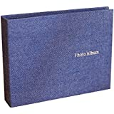 Insho 30 Pockets 5 inch Cloth Instant Camera Wide Photo Album for Instax Wide 210,Instant Wide 300,FP 3000B,FP100C Films - Blue