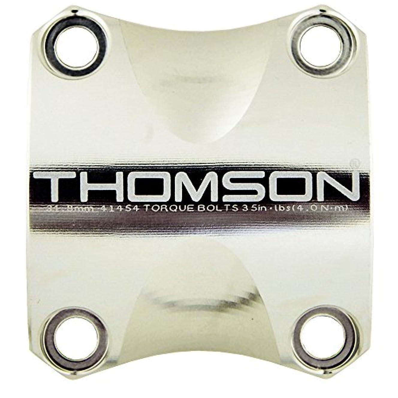 在庫特異性ご予約THOMSON(トムソン) X4 STEM HANDLEBAR CLAMP SMH007SL シルバー 31.8mm