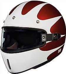 NEXX ネックス X.G100 Southsider Helmet フルフェイスヘルメット レッド/ホワイト S(55~56cm)