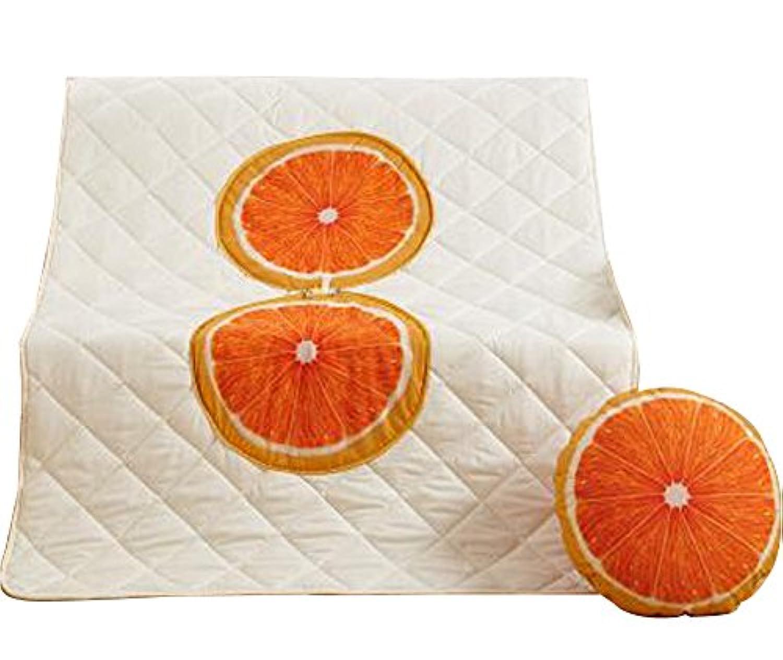 ファッションオレンジの枕は、オフィスの昼食に使用される子供のキルト