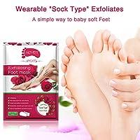(5袋セット)Aliver足膜古い繭の死皮や角質を除去するために、1週間以内に柔らかい感触を得て、つるっとした足、ざらざらした足を修復します。男女ともに適用する。6種類の選択-パパイヤ足膜、バラ足膜、カモミール足膜、ラベンダー足膜、レモン足膜、アボカド足膜、オリーブ足膜。 (パパイヤ)