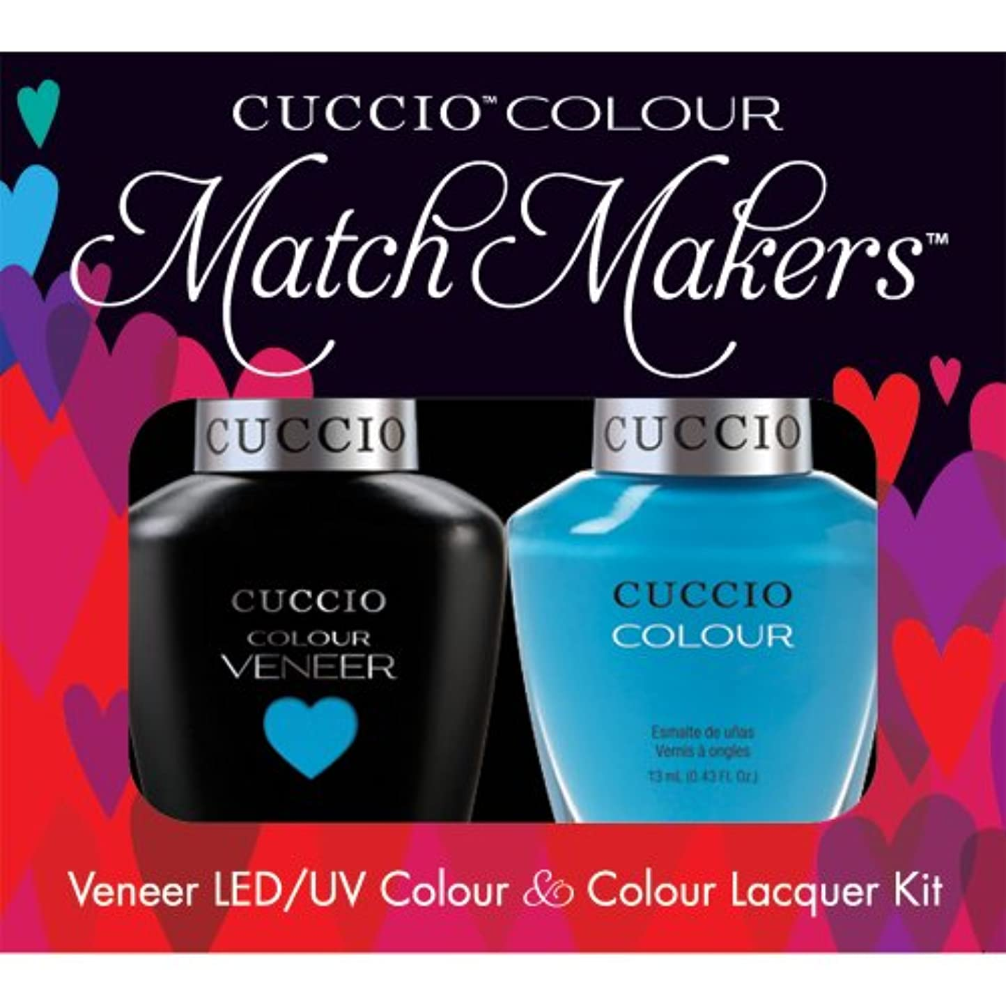 性交診療所の量Cuccio MatchMakers Veneer & Lacquer - St. Bart's in a Bottle - 0.43oz/13ml Each