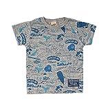 (オフィシャルチーム) OFFICIAL TEAM マリンライフパターン Tシャツ MARINE LIFE PATTERN T-SHIRTS半袖/プリントT/ロゴT 80 ライトグレー