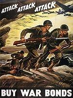 第二次世界大戦 攻撃 USA 広告ポスタープロパガンダ 12 x 16 [並行輸入品]