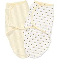 Summer Infant SwaddleMe 2 Piece Adjustable Infant Wrap, Bee Lining, Small/Medium by Summer Infant [並行輸入品]
