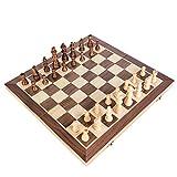 Kosun チェスセット 国際チェス 木製 マグネット式 折りたたみチェスボード 収納便利 (L)