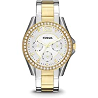 Fossil Women's ES3204 Riley Two-Tone Stainless Steel Watch with Link Bracelet