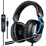 High Quality R4 Gaming Headset Headphone 3.5mm Stereo Over-ear with Mic Volume Control for PC/Xbox One/PS4/Mac