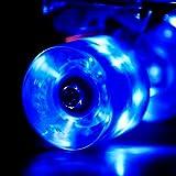 LED スケートボード ウィール Skateboard Wheels 59x45mm 4個セット(ブルー)【Wonnv】