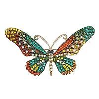 Fablcrew ブローチ ちょう 美しい蝶のデザイン バタフライ ブローチ 合金 7.8*4.6cm【プレゼント】 入学式 卒業式 成人式 結婚式 パーティー 記念日 お祝い 宴会 誕生日