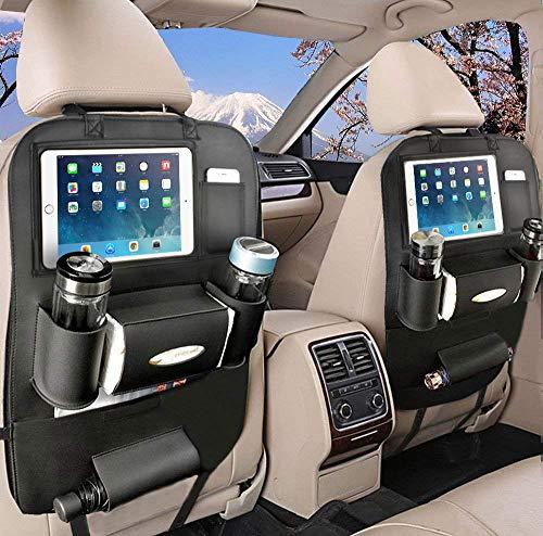 車 収納 シートバックポケット おしゃれ 後部座席 車 大容量 収納 車のシートに楽々取付け ティッシュカバー 小物入れ