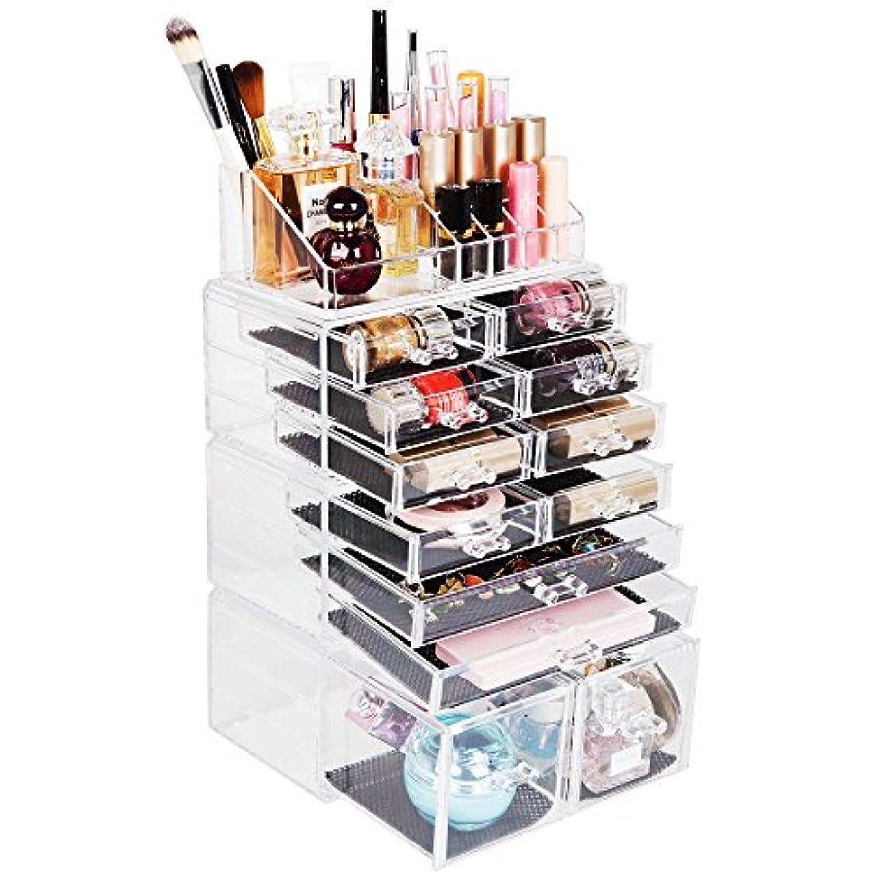 Reodoeer 化粧品収納ボックス メイクケース メイクボックス 化粧品入れ コスメ収納スタンド(透明)