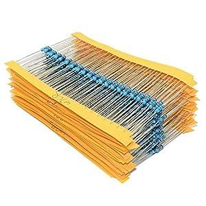 Keepjoy 金属皮膜抵抗器 抵抗セット 1/4W 許容差1% 10Ω~1MΩ 30種類 各20本入り 合計600本