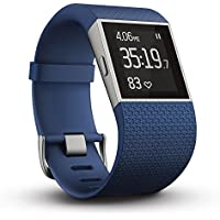 Fitbit フィットビット フィットネス スーパー ウォッチ Surge GPS内蔵 運動 睡眠 健康管理 活動量計 アクティブトラッカー Blue ブルー Sサイズ 【日本正規品】 FB501BUS-JPN