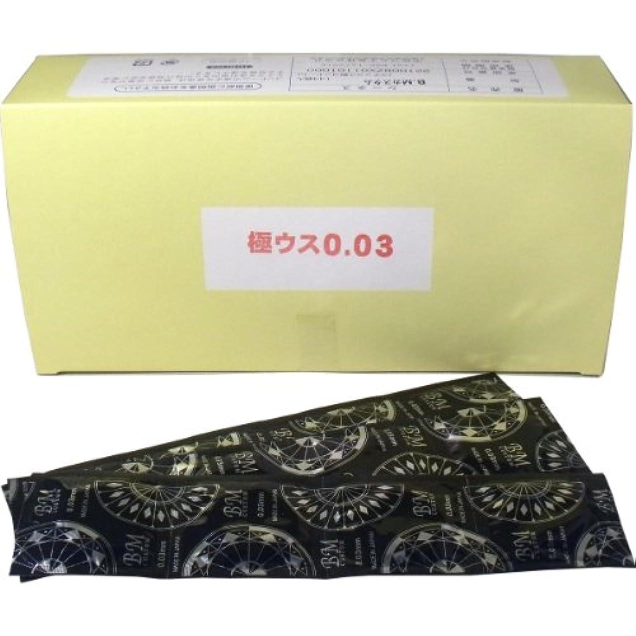中西ゴム工業製 業務用コンドーム 極ウス0.03mm BMカスタム(BM CUSTOM) 720個(5グロス) セット