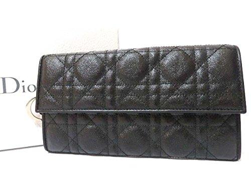 (クリスチャンディオール) Christian Dior カナージュ レディディオール 2つ折り 長財布 レザー レディース 0454 中古