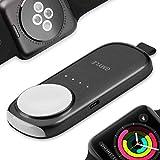 [Apple MFi認証] アップルウォッチ Apple Watch Series 1/2 / 3 / Nike+ 用 グレー GMYLEポータブル ポケットサイズ ワイヤレス 800mAh キーチェーン型マグネティック チャージャー パワーバンク