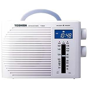 東芝 ワイドFM/防水クロックラジオホワイトTOSHIBA TY-BR30F(W)