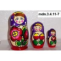 Russian Nesting Doll (Maidan) * 3 Pcs / 4 in * mdn-3.4.11-7