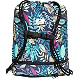 Beach Bag, Drawstring Swim Backpack Pool Bag for Gym Travel,Wet Dry Separated,Shoe Compartments Unisex Day Bag