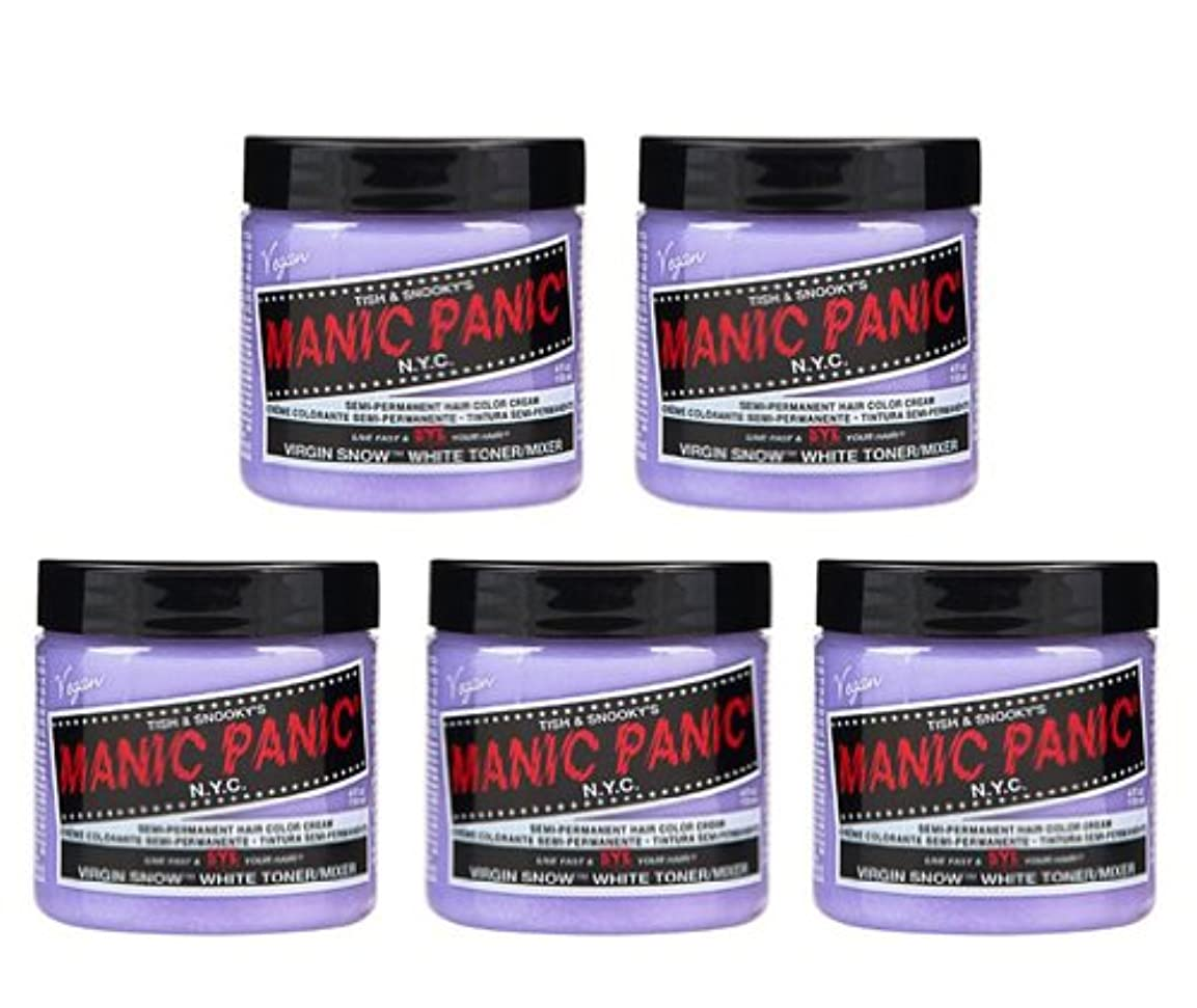 ヒールヒューム消防士【5個セット】MANIC PANIC マニックパニック Virgin Snow (ヴァージン?スノー) 118ml