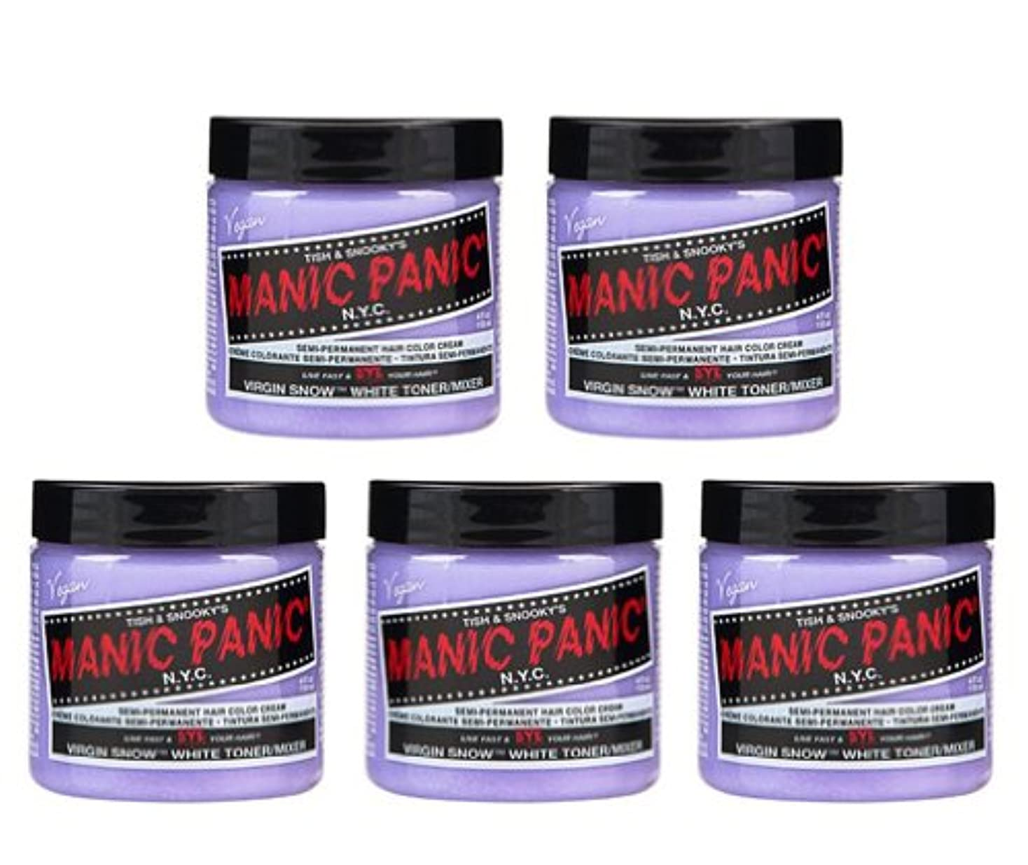 数学ウィスキー撤回する【5個セット】MANIC PANIC マニックパニック Virgin Snow (ヴァージン?スノー) 118ml