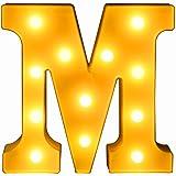 マーキーライト リモコン操作 イニシャルライト 飾り アルファベット 乾電池式 LEDライト イベント 結婚式 パーティー ギフト (M)