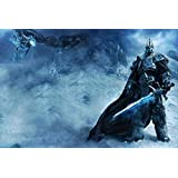 WORLD OF WARCRAFT Posters Lich King Art Silk Wall Decals Game Posters Prints 24x36
