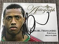 2011Futera マヌエル・フェルナンデス(Manuel Fernandes) ポルトガル代表 直筆サインカード バレンシア 50枚限定