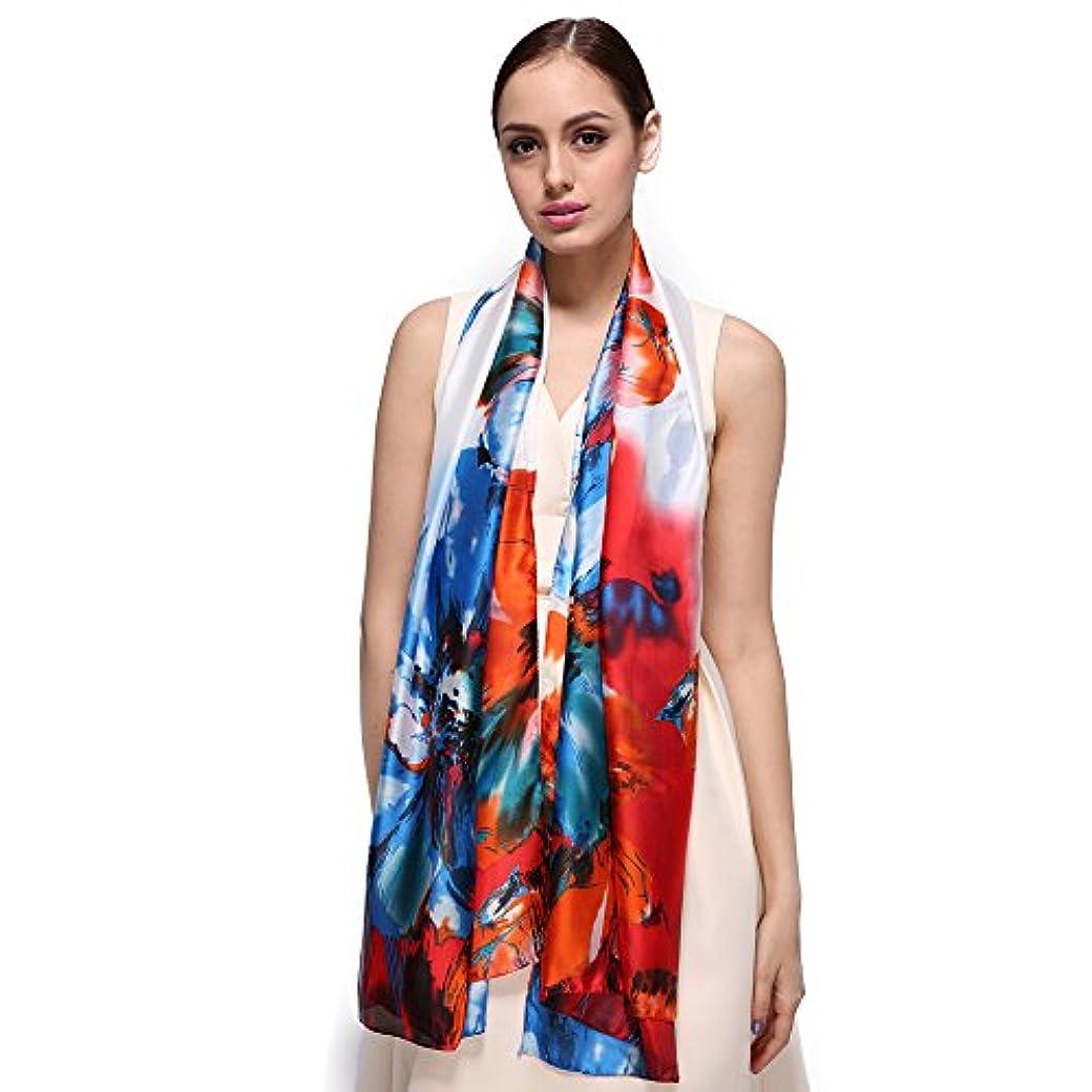 組立請求書視線レディース スカーフ シルク Women Wraps Long Shawl Scarf Silk Scarves 春夏 花プリント 触感超柔软薄款 マフラー FS579