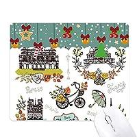 秋のエッフェルパリフランス落書き ゲーム用スライドゴムのマウスパッドクリスマス