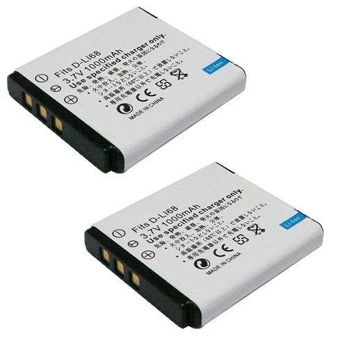 【JC】2個セット PENTAX/ペンタックス D-LI68 互換バッテリー Q10対応