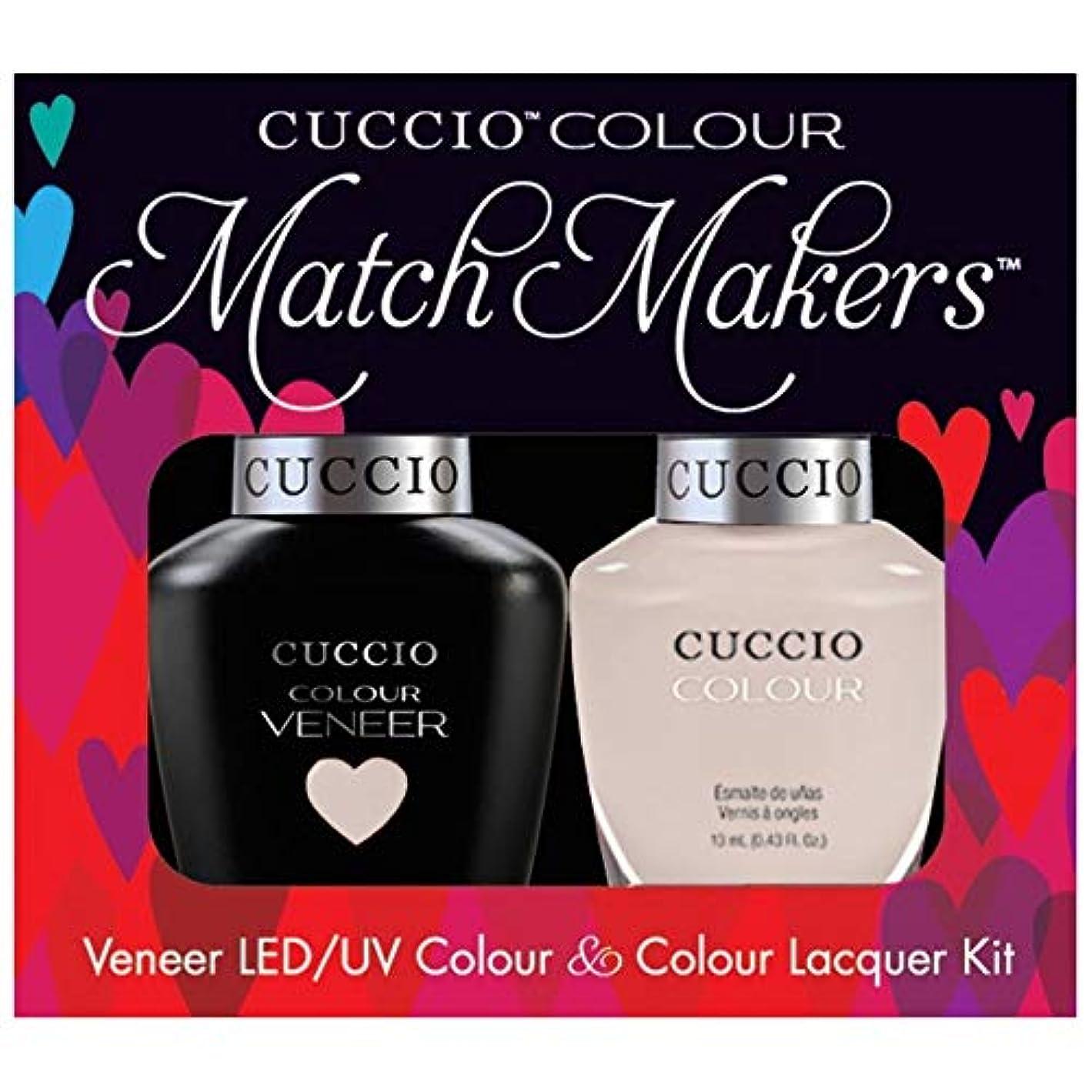 喜ぶ不格好遅らせるCuccio MatchMakers Veneer & Lacquer - Pier Pressure - 0.43oz / 13ml Each