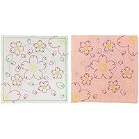 オリムパス製絲 花ふきんキット 刺し子 図案プリント済 水辺の桜 154