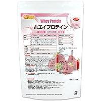 ホエイプロテインW80 ストロベリー風味 1kg 11種類のビタミン配合 NICHIGA(ニチガ)