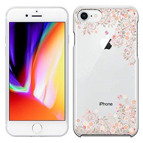 「Breeze-正規品」iPhone ・ スマホケース ポリカーボネイト [透明-Pink] Apple iphone 8 iphone8 ケース iphone 8 カバー アイフォン8 ケース SIMフリーカバー 液晶保護フィルム付 全機種対応 [I8]