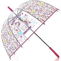 Unicorn Transparent Stick Kids Umbrella