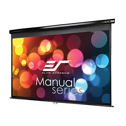 RoomClip商品情報 - エリートスクリーン プロジェクタースクリーン マニュアル 100インチ(16:9) マックスホワイト素材 ブラックケース M100UWH