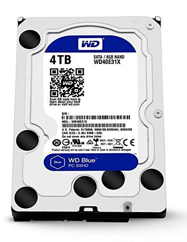 WD SSHD 内蔵ハードディスク 3.5インチ 4TB Blue WD40E31X / 8GB MLC / SATA 6Gb/s