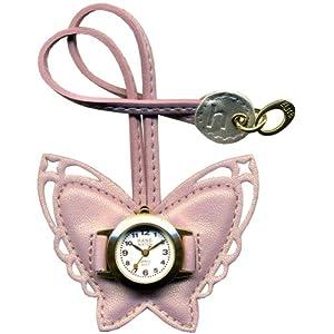 hangwatch (ハングウォッチ) アクセサリウォッチ チョウ ピンク EP135E