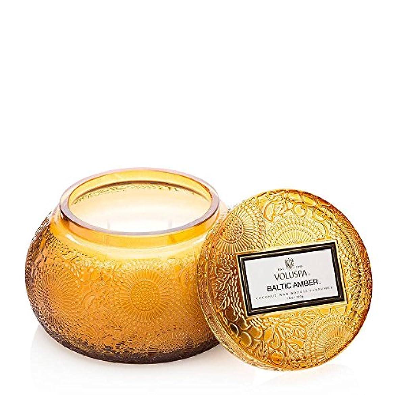 慣れる祝福ながらVOLUSPA チャワングラスキャンドル Baltic Amber バルティックアンバー GLASS CANDLE ボルスパ