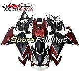 Sportfairings マットブラックダークレッドプラスチック ABS インジェクションオートバイフェアリングキットアプリリア RS125 2006 2007 2008 2009 2010 2011 ボディ