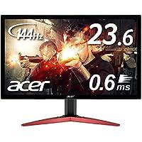 Acer ゲーミングモニター KG241QAbiip 23.6インチ 144hz 0.6ms TN …