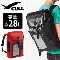 ウォータープルーフ バックパック GULL ガル ウォータープロテクト バックパック GB-7106 防水 バッグ シュノーケリング ダイビング レッド