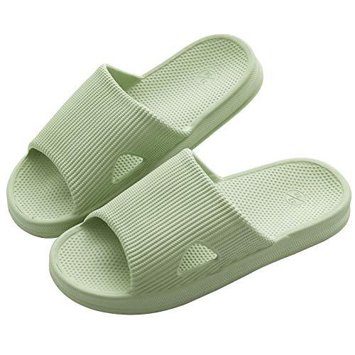 [KOCOTA] 抗菌防臭素材 スリッパ サンダル 超軽量 滑り止め 男女兼用 グリーン S