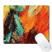 Galdas マウスパッド 明るい芸術的なスプラッシュ 抽象画画 カラフルなテクスチャデザイン マウスパッド ノンスリップゴム ゲームマウスパッド 長方形マウスパッド コンピュータ ノートパソコン用 アート
