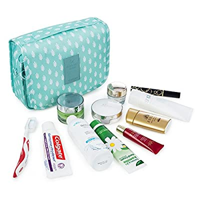 Multifunctional Portable Travel Hanging Toiletry Bag Waterproof Compact Travel Organizer Cosmetic Make Up Bag Case Beach Pouch Bathroom Storage Organizer Travel Accessories Large Essentials Organizer For Women Men Kit With Hanging Hook And Strong Zippers