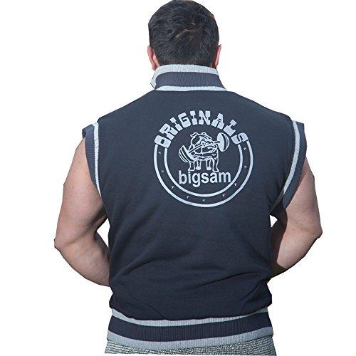 ビッグサム・スポーツウェアCompanyメンズベストカーディガンSPORTVESTジャケット* 3564* US サイズ: XL カラー: ブラック